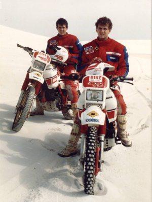 André Azevedo com Klever Kolberg em 1989