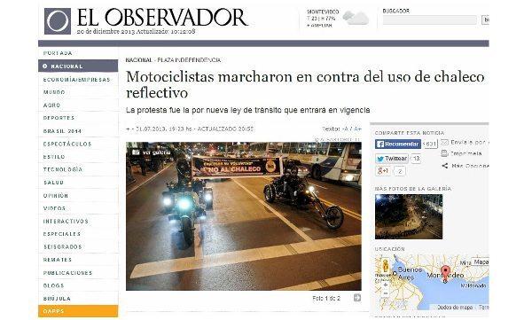 Manifestações de repúdio à nova lei estão acontecendo em todo o Uruguai