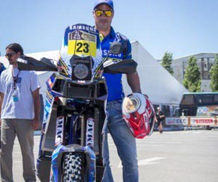 Juan Pedrero Garcia (Sherco) surpreende a todos e vence a 4ª etapa do Dakar 2014 - foto de divulgação do piloto
