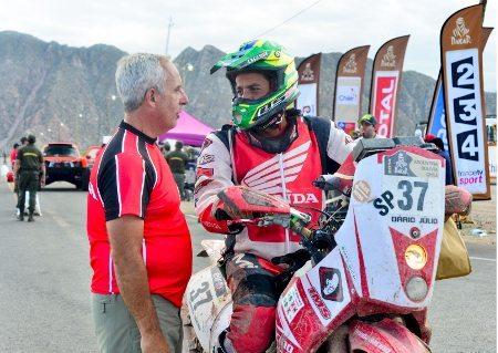 Dário Júlio, piloto da Honda Racing Rally Team, no Dakar 2014