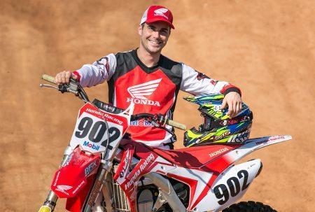 Julien Bill, piloto da Equipe Honda na categoria MX1 da temporada 2014
