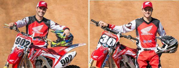 Julien Bill e Hector Assunção, pilotos da Equipe Honda para a temporada 2014 de motocross