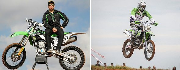 Cauê Aguiar e Ramon Sacilotti correm pela Equipe Kawasaki Racing Brasil