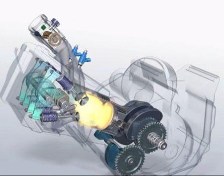 Motor moderno tem quatro válvulas por cilíndro, arrefecimento a líquido e comando de válvulas no cabeçote (OHC ou DOHC) e sistema de eixo balanceador