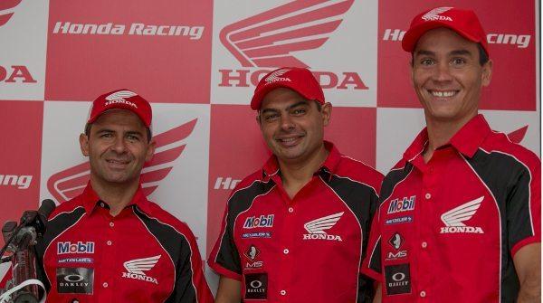 Equipe Honda Mobil de Rali - Dário Júlio não compareceu ao evento por estar se recuperando de lesão sofrida no Rally Dakar