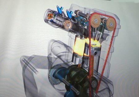 Nova concepção desse motor promove maior concentração de massas e maior eficiência