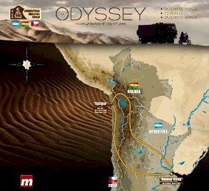 Mapa do Rally Dakar 2015