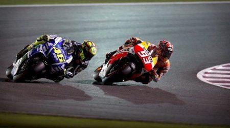 Valentino Rossi e Marc MArquez protagonizaram uma batalha épica no Qatar