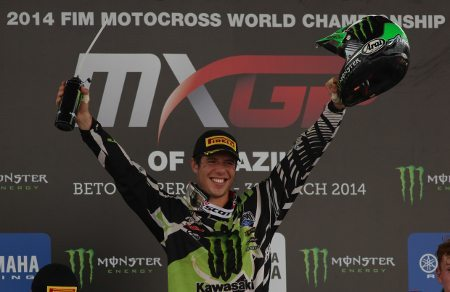Arnaud Tonus, piloto da MX2 no GP Brasil de Motocross, terceira etapa do Mundial de Motocross 2014 - foto de Luiz Pires