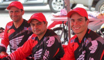 O time da Honda: Jean, Nielsen e Bissinho