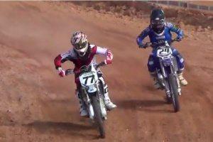Diego (77) e Tiago (24) na volta final da categoria júnior