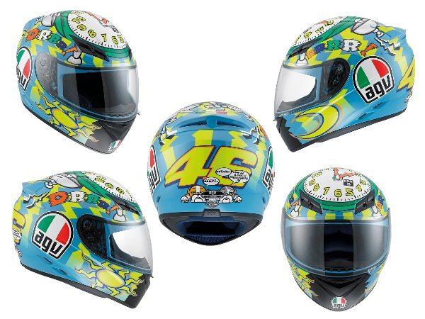 Para quem pode, um réplica de 2010 do capacete do Valentino Rossi