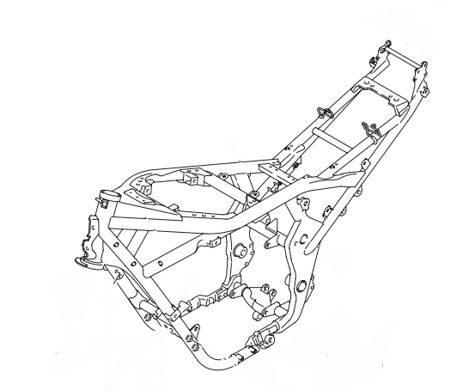 O chassi da GSX1250FA recebeu tubos mais grossos, aumentou a resistência à torção sensivelmente
