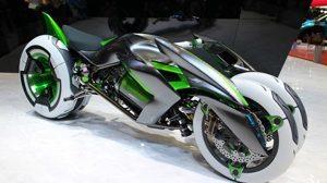 ... e com as rodas coladas, é uma motocicleta