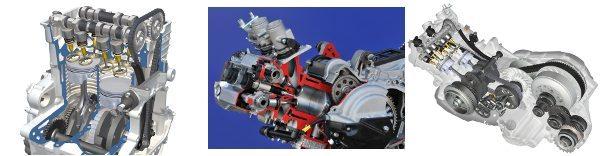 Raio-X do motor e da transmissão
