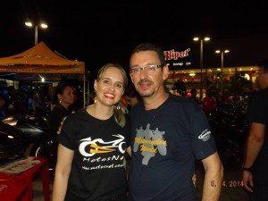 Gerardo Aguiar com sua esposa Andrea Muhlert.