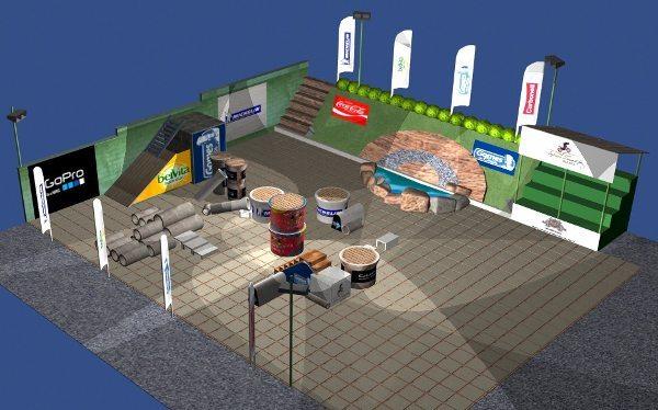 Maquete do local de realização da 2ª etapa do Mineiro de Trial Indoor