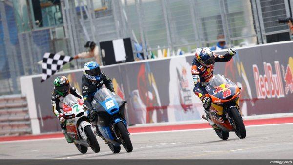 Jack Miller comemora a vitória no Grande Prêmio Red Bull das Américas de Moto3™