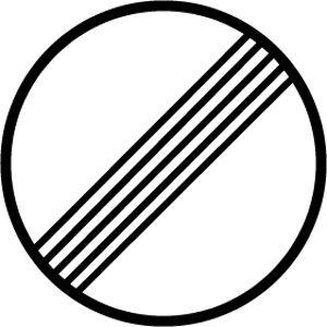 Indicação presente nas Autobahns na Alemanha, mostrando que não há limite de velocidade