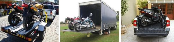 Transporte sua moto corretamente: na carretinha, contrate um transporte ou leva na caçamba da picape