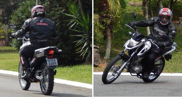 Por onde quer que se olhe, a moto se mostra compacta e elegante