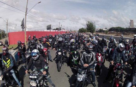 Milhares de motos em uma fila interminável - divulgação Loja de Notícias