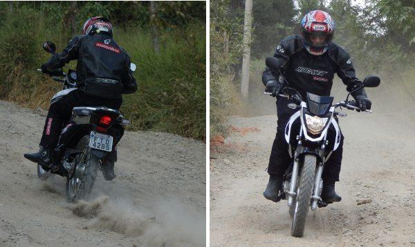 Para cima ou para baixo, a Crosser enfrenta bem os obstáculos do off-road e se configura numa boa opção para quem está começando nas trilhas