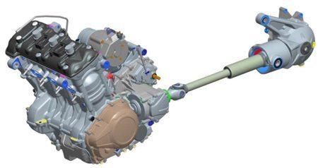 """Motor de três cilindros e 1215cc balanceado 137 cv, 121Nm de torque, eixo cardã, controle eletrônico – """"Drive by wire"""" Longos intervalos entre revisões – 16.000km"""