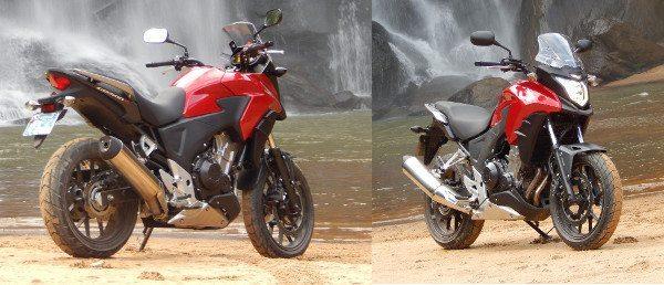 Design inspirado em motos maiores, como a VFR 1200X e NC 700X