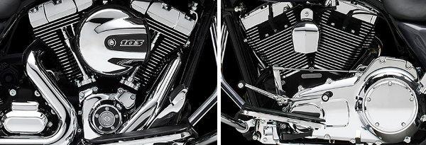 Cuidados nos mínimos detalhes, inclusive do acabamento do motor que teve as aletas de refrigeração polidas e as tampas cromadas