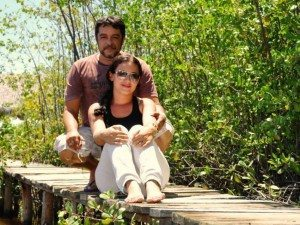 Luís Sucupira e Jamile Souza em Praia de Ponta Grossa (foto de Andrea Muhlert)