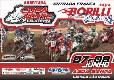 Cartaz da Copa Norte de Velocross