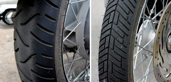 Pneus diferentes na traseira e na dianteira: mercado não oferece pneus iguais na medida das rodas da Bonneville?