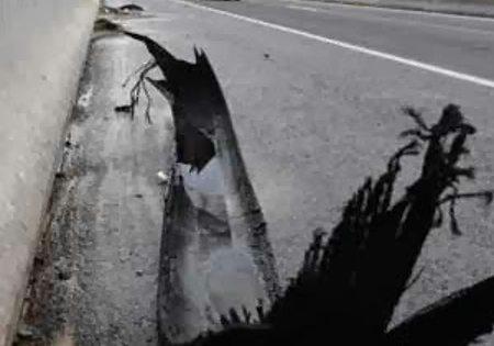 Lixo perigoso nas estradas