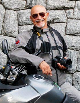 Luiz Almeida: motociclista, fotógrafo e escritor