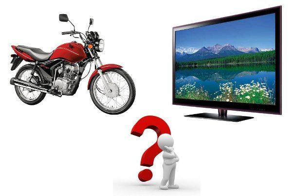 Moto ou TV?