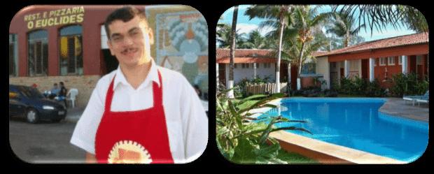Restaurante 'O Euclides' e a pousada Ilha do Amor