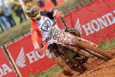 Davis Guimarães no Brasileiro de Motocross - foto de Wilson Yasuda, obtida no arquivo pessoal do piloto