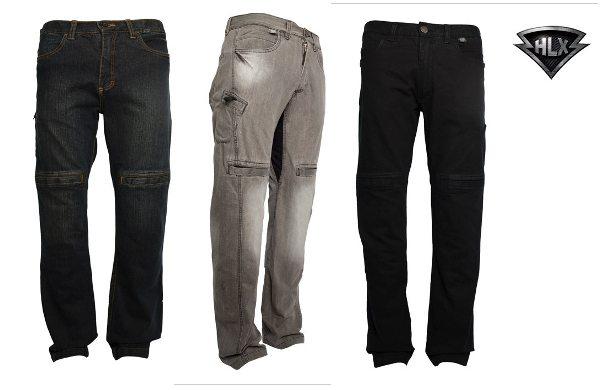 Calças da HLX: roupa comum para todos os dias, mas com as proteções para motociclistas
