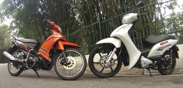 Crypton e Biz, as duas motonetas mais vendidas no Brasil