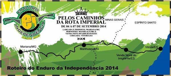 Roteiro completo do Enduro da Independência 2014