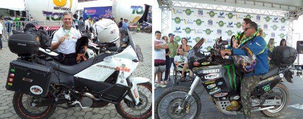 Na categoria Big Trail, motos modernas e até uma veterana Ducati 900 ano 1996