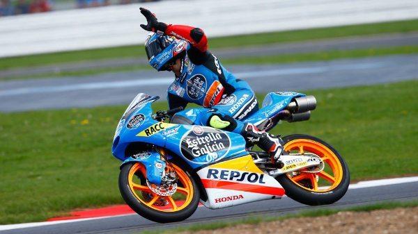 Alex Rins da Estrella Galicia no Grande Prêmio da Inglaterra