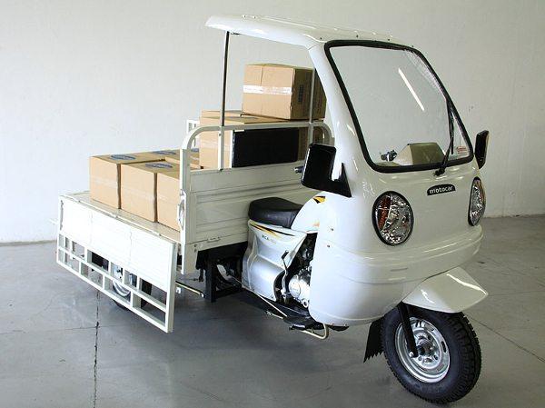 Tricíclo Motocar modelo MCA 200, com corroceria aberta
