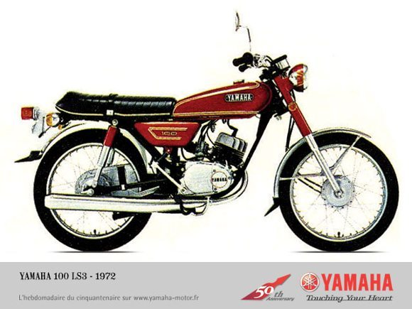 Yamaha 100 LS3 ano 1972 , 2 tempos, andava muito