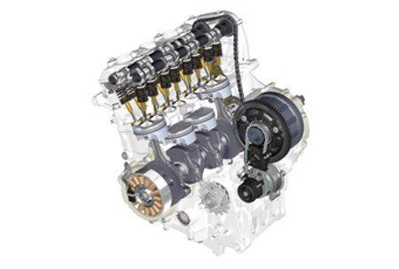 Motor consagrado pela RR - Um 4 cilindros 1000cc DOHC