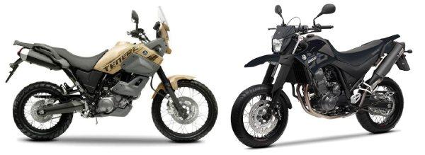 As Yamaha de 660cc encaram com mais naturalidade o off road