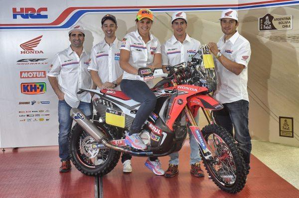 Team HRC para o Dakar 2015 -