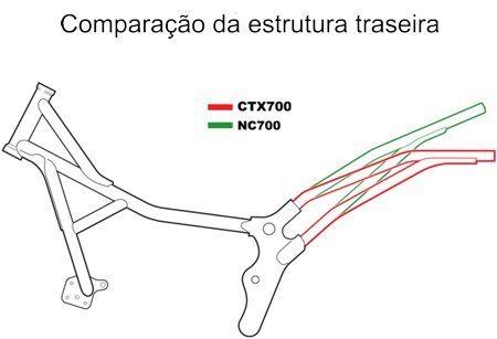 O chassi da CTX tem a traseira mais baixa