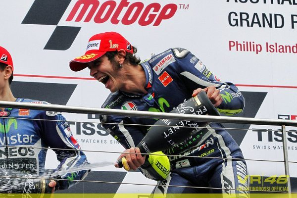 Rossi vence a segunda corrida da temporada 2014